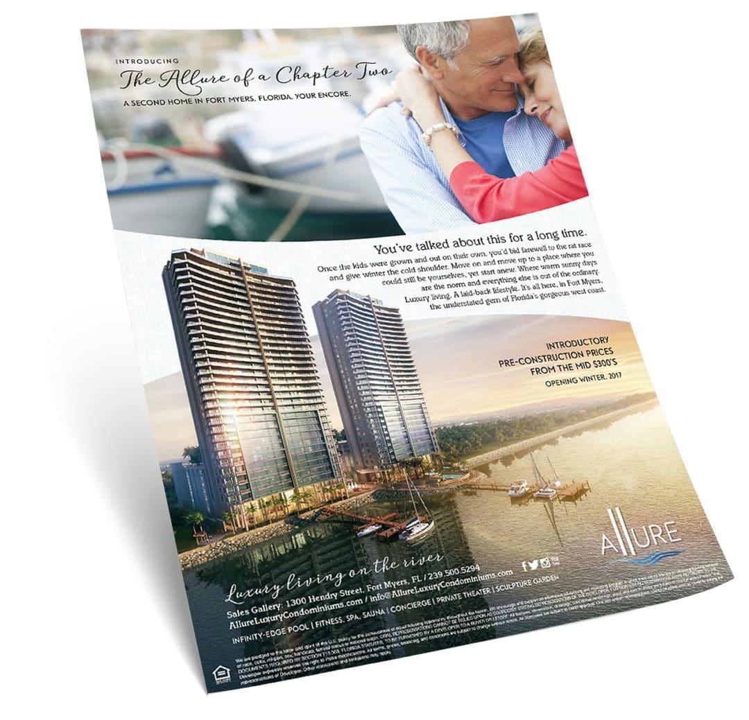Allure Condominium Fort Myers Print Ad