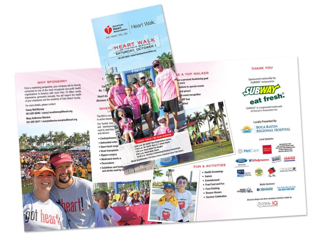 American Heart Association Event Brochure