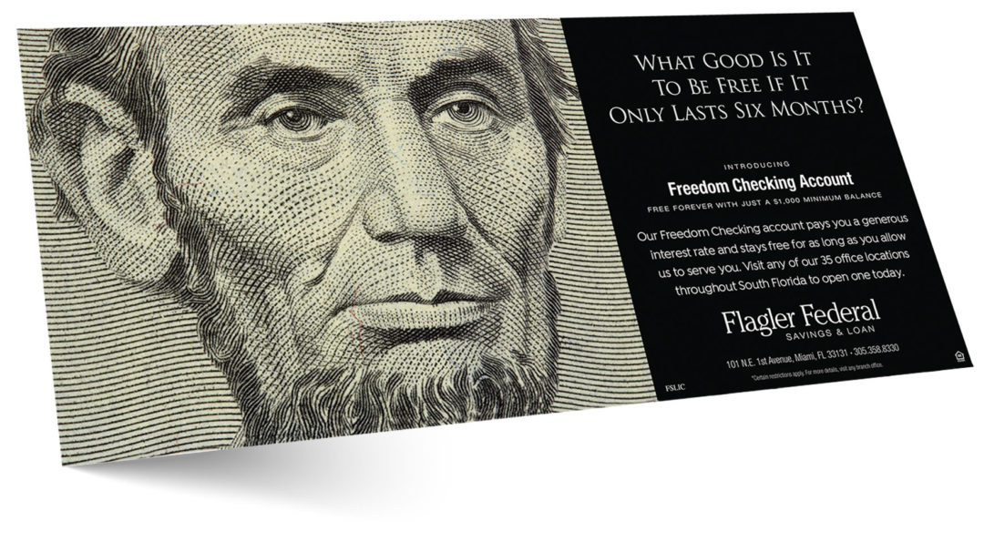 Financial Institution Checking Account Print Ad