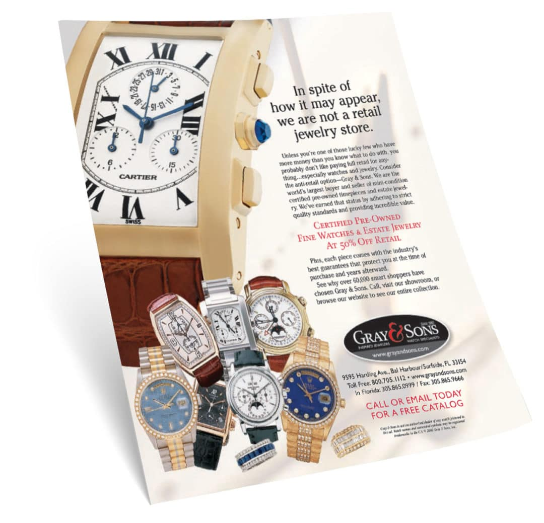 Gray & Sons Jewelers Print Ad