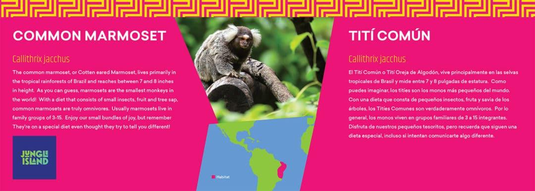 Jungle Island Attraction Animal Display Signage