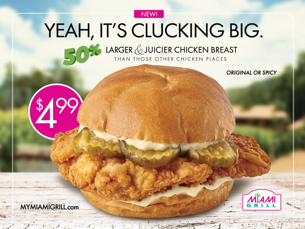 Miami Grill Chicken Sandwich Ad