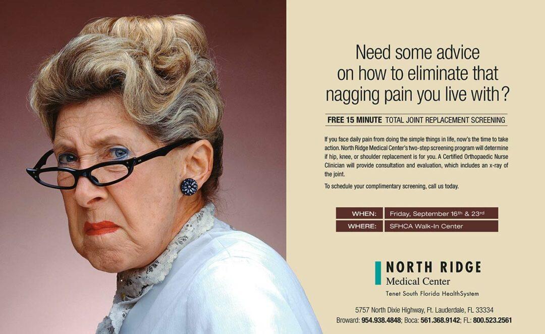 North Ridge Medical Center print ad