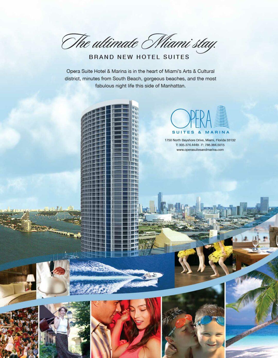 Opera Tower Hotel Suites Miami Print Ad