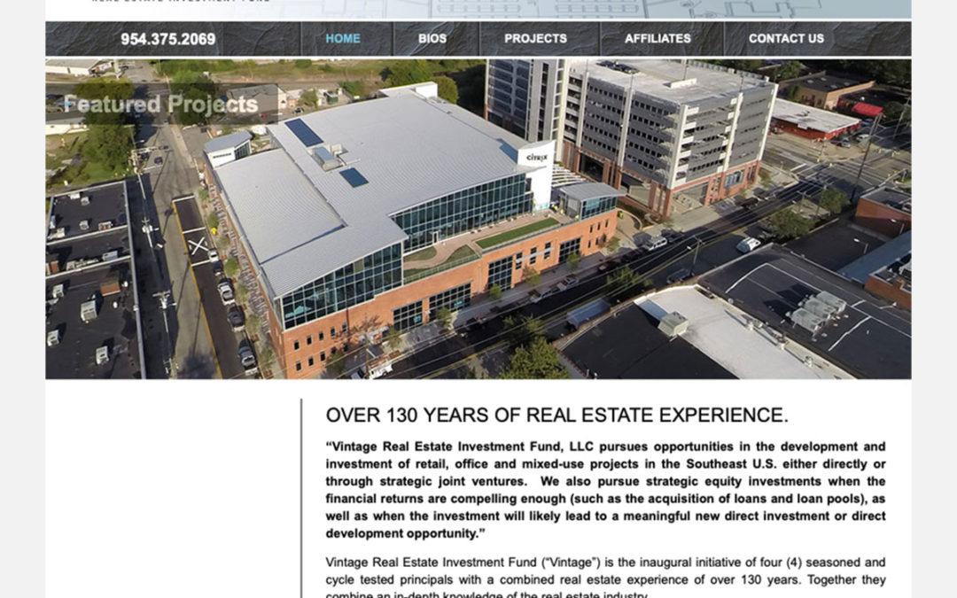 Vintage Real Estate Investment Fund Website